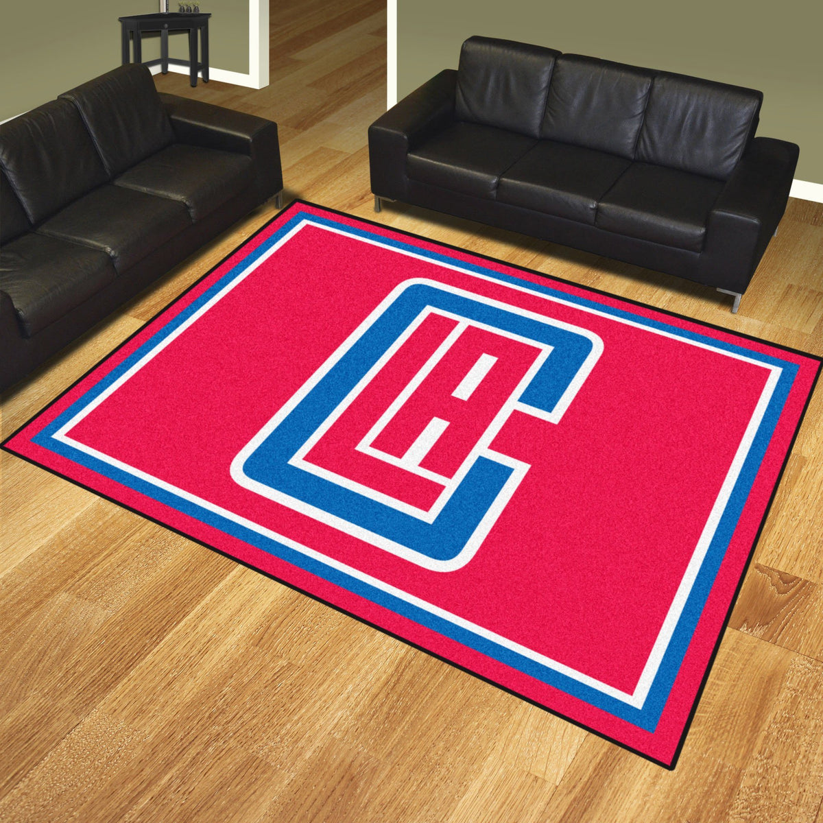 NBA - 8' x 10' Rug NBA Mats, Plush Rugs, 8x10 Rug, NBA, Home Fan Mats Los Angeles Clippers