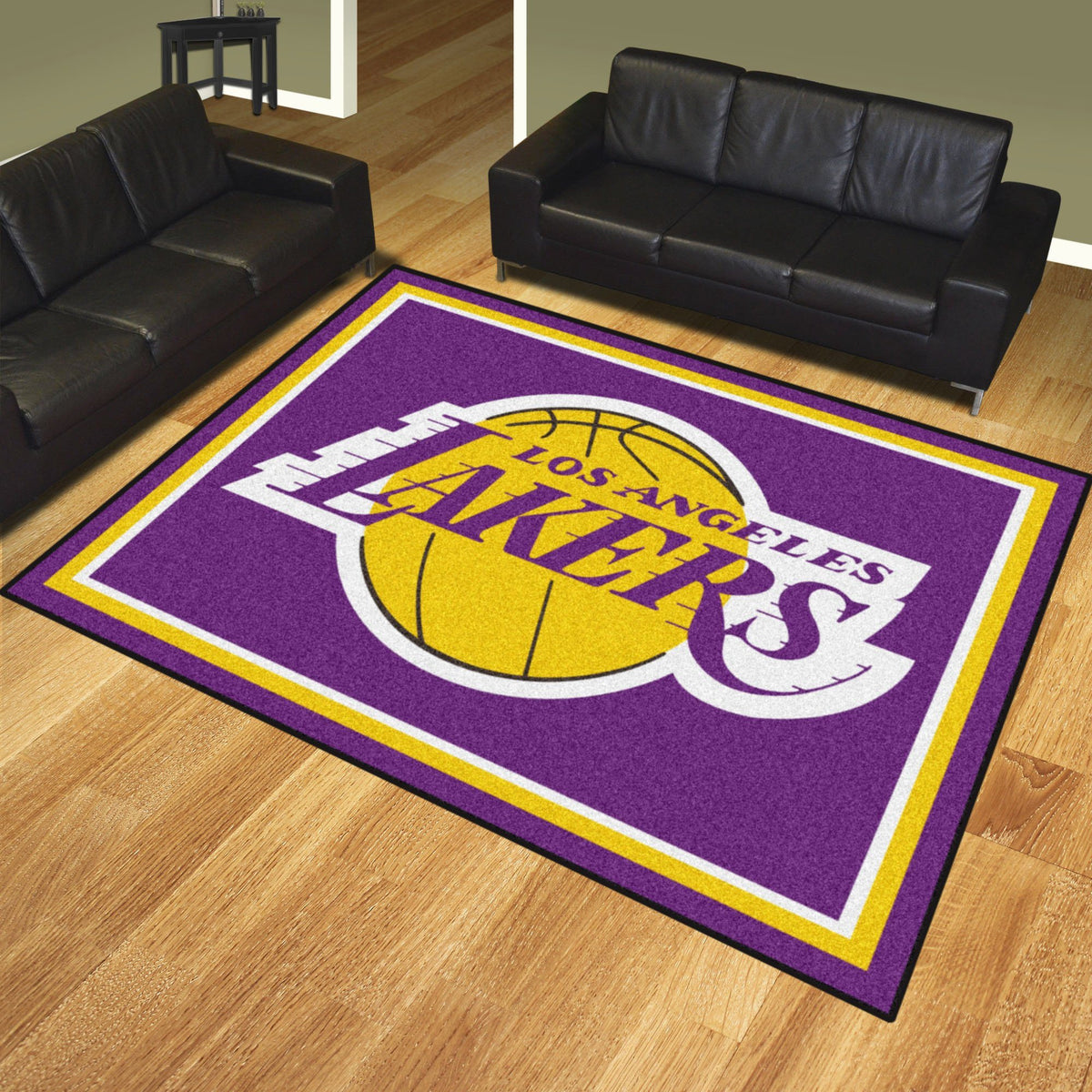 NBA - 8' x 10' Rug NBA Mats, Plush Rugs, 8x10 Rug, NBA, Home Fan Mats Los Angeles Lakers