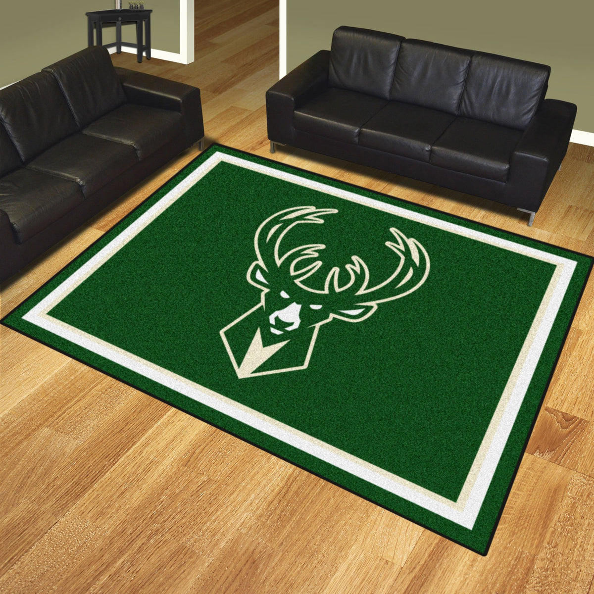 NBA - 8' x 10' Rug NBA Mats, Plush Rugs, 8x10 Rug, NBA, Home Fan Mats Milwaukee Bucks