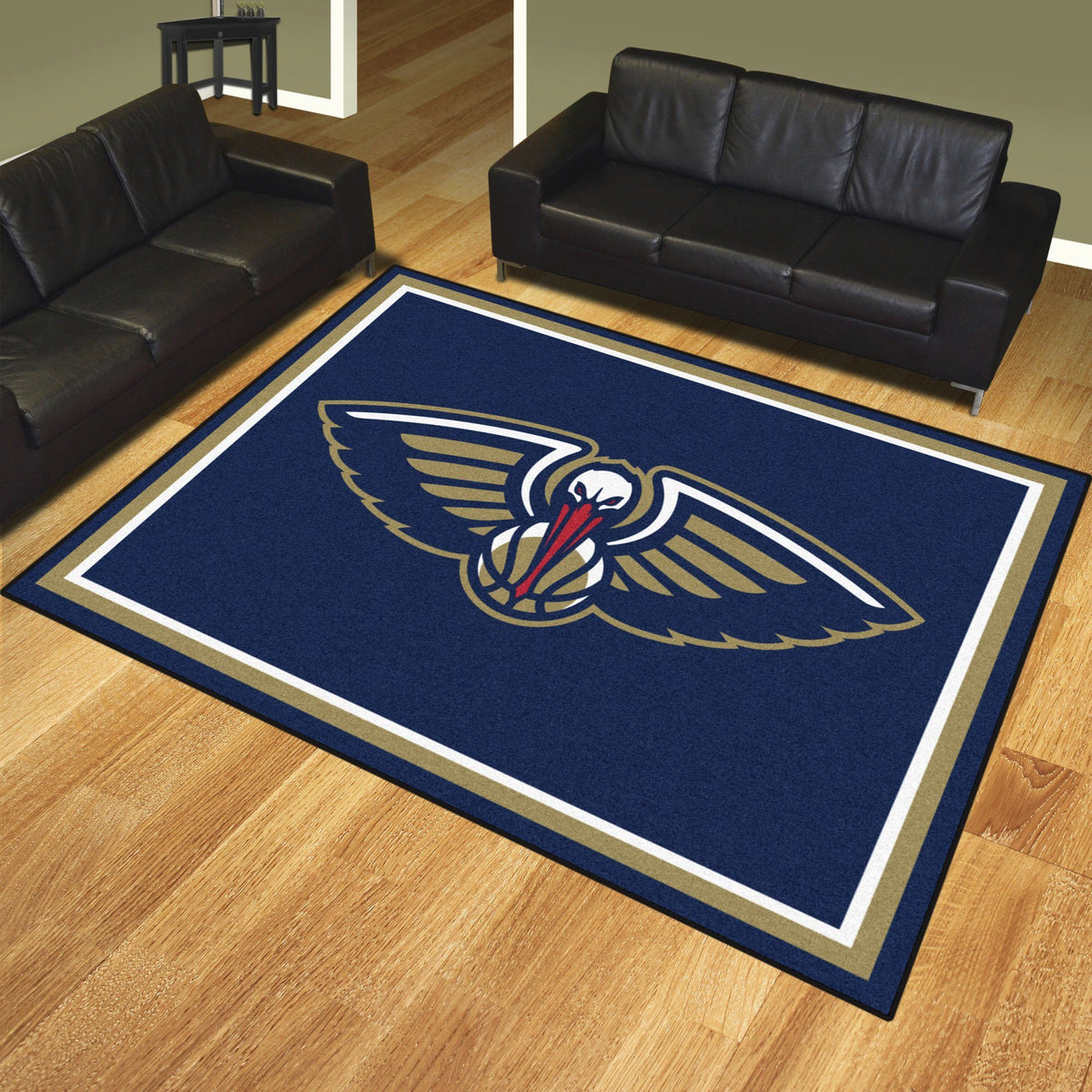 NBA - 8' x 10' Rug NBA Mats, Plush Rugs, 8x10 Rug, NBA, Home Fan Mats New Orleans Pelicans