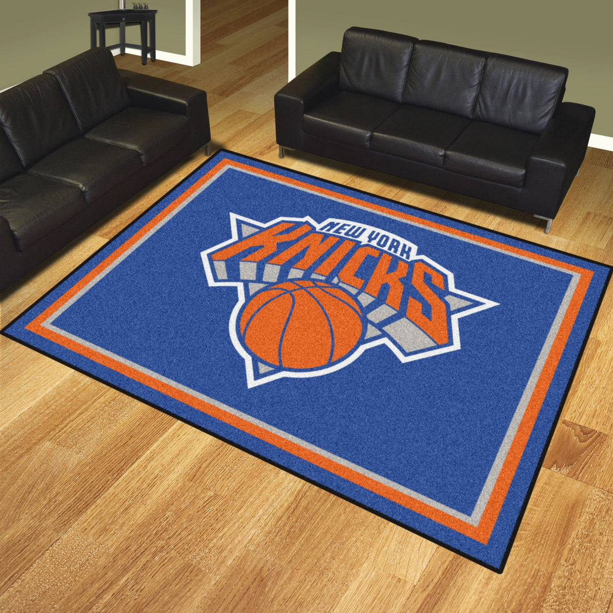 NBA - 8' x 10' Rug NBA Mats, Plush Rugs, 8x10 Rug, NBA, Home Fan Mats New York Knicks