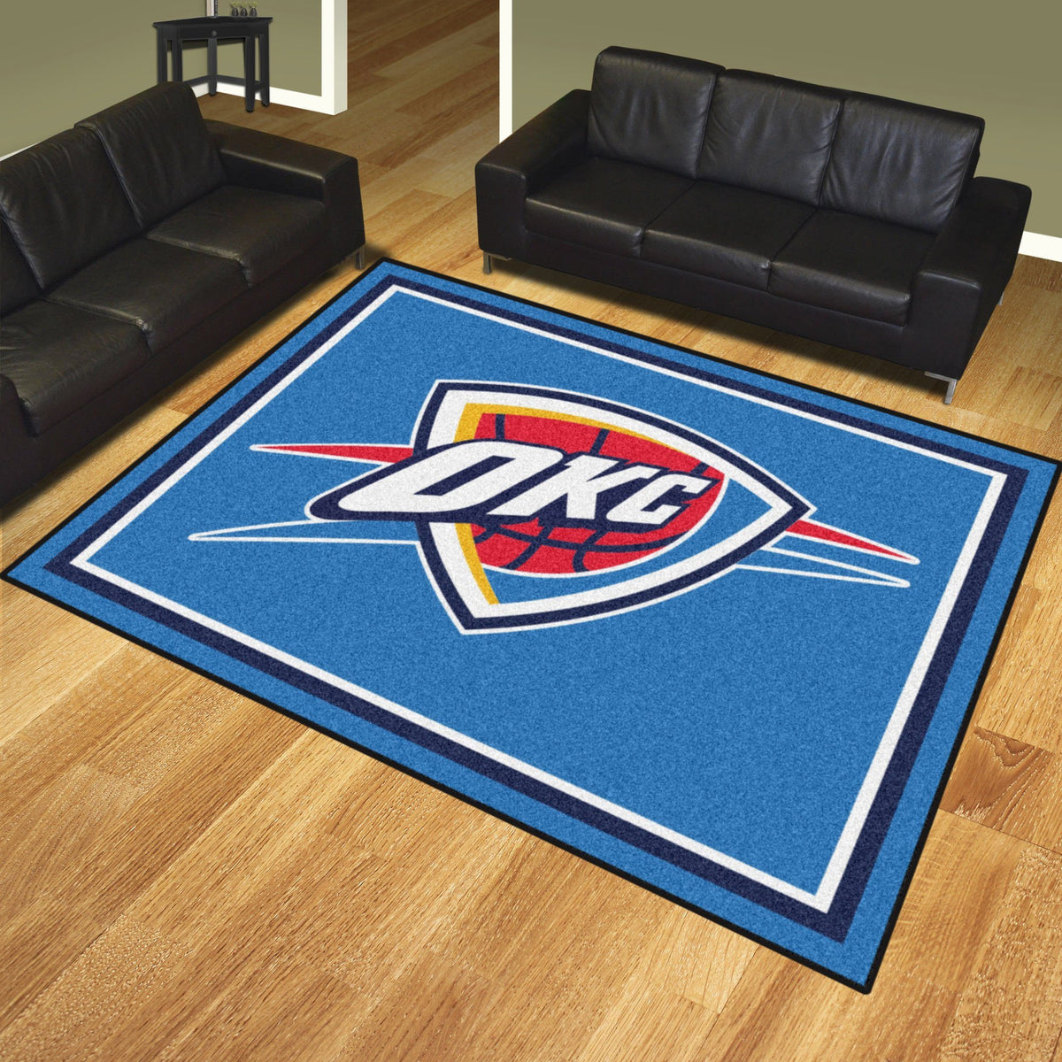 NBA - 8' x 10' Rug NBA Mats, Plush Rugs, 8x10 Rug, NBA, Home Fan Mats Oklahoma City Thunder