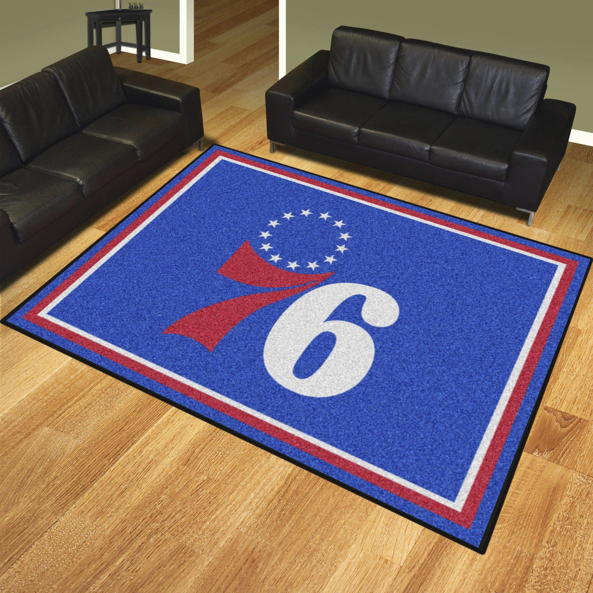 NBA - 8' x 10' Rug NBA Mats, Plush Rugs, 8x10 Rug, NBA, Home Fan Mats Philadelphia 76ers