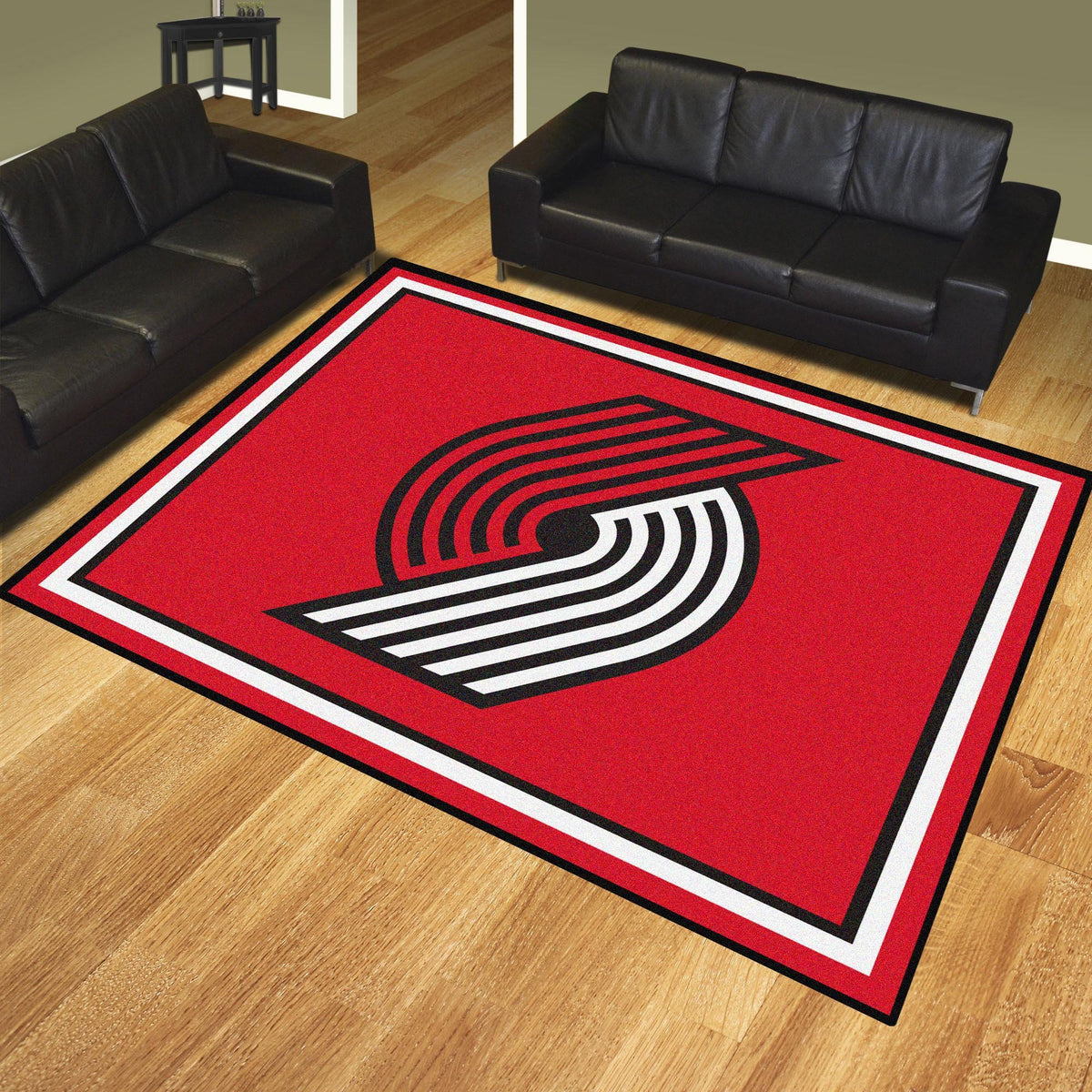 NBA - 8' x 10' Rug NBA Mats, Plush Rugs, 8x10 Rug, NBA, Home Fan Mats Portland Trail Blazers