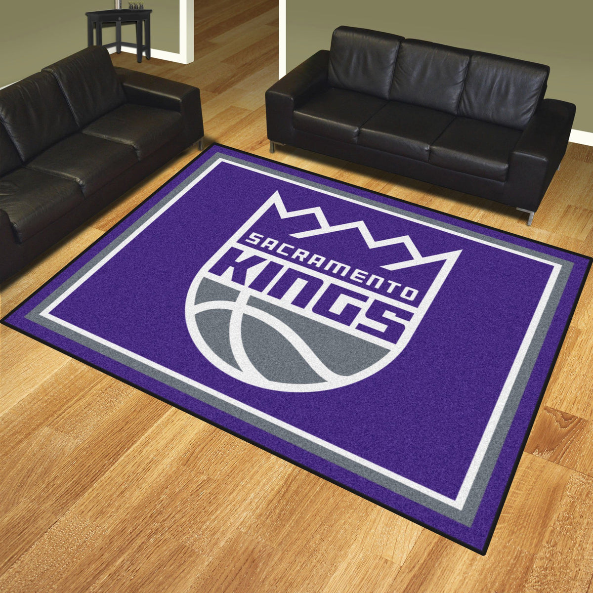 NBA - 8' x 10' Rug NBA Mats, Plush Rugs, 8x10 Rug, NBA, Home Fan Mats Sacramento Kings