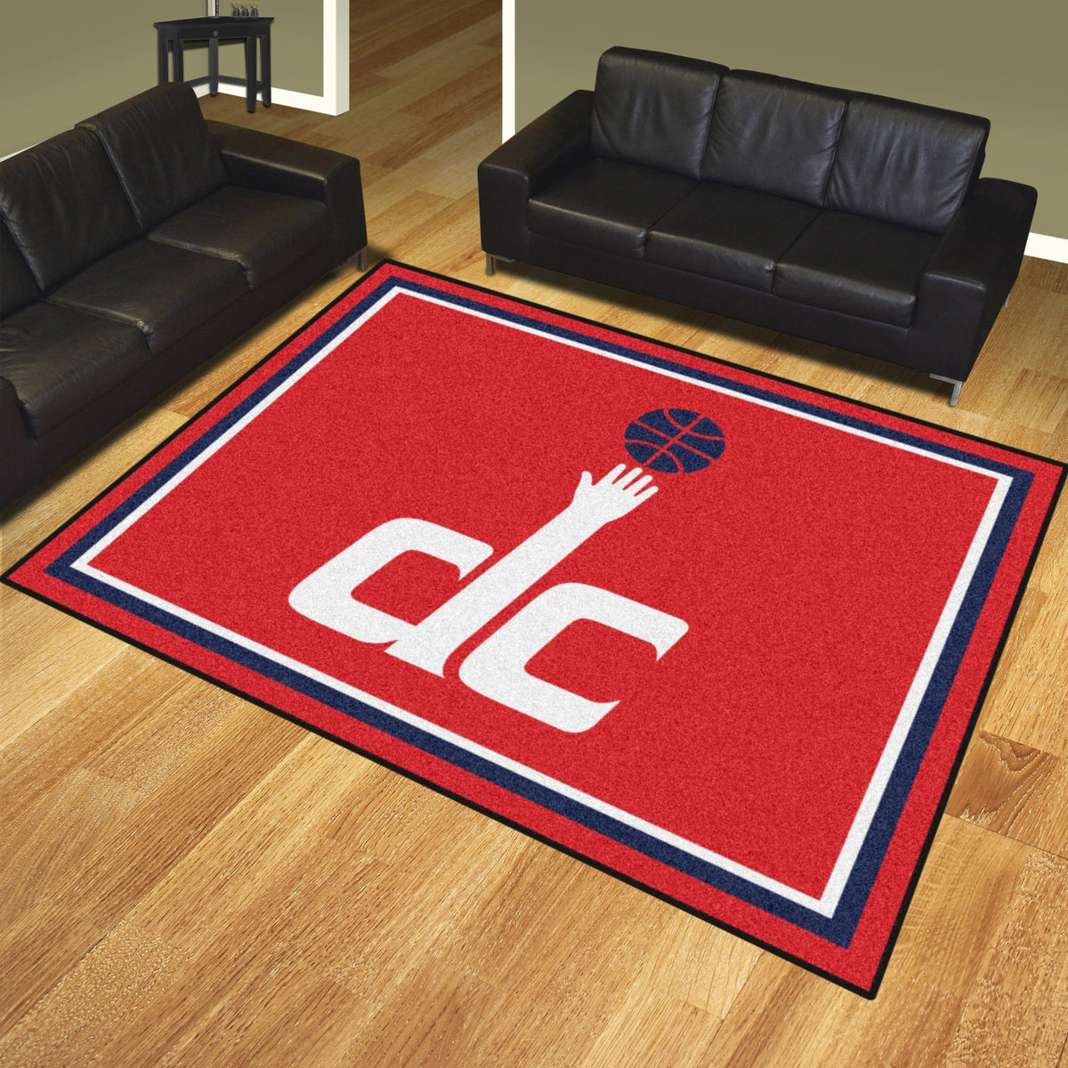 NBA - 8' x 10' Rug NBA Mats, Plush Rugs, 8x10 Rug, NBA, Home Fan Mats Washington Wizards