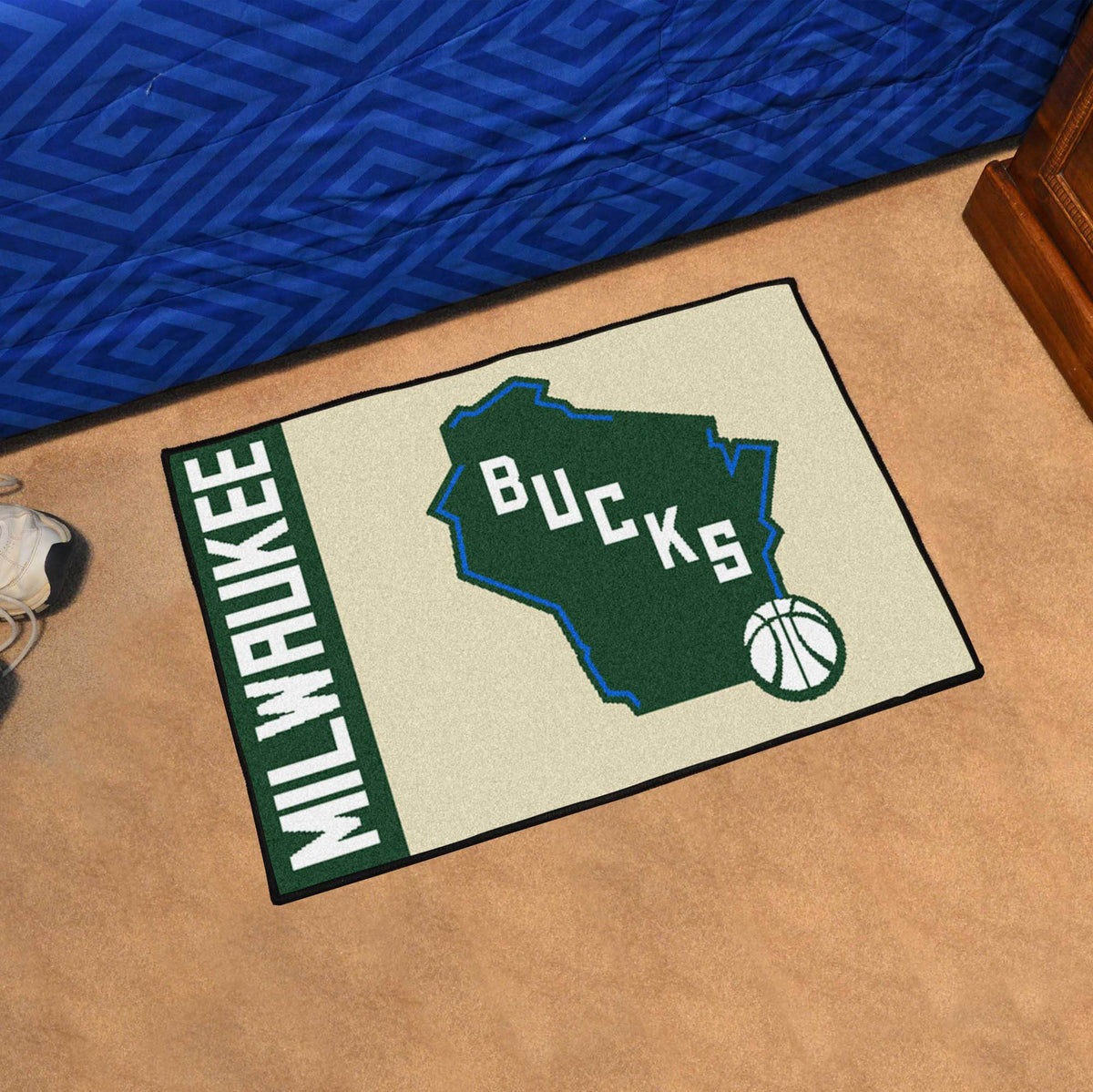NBA - Uniform Starter Mat NBA Mats, Rectangular Mats, Uniform Starter Mat, NBA, Home Fan Mats Milwaukee Bucks