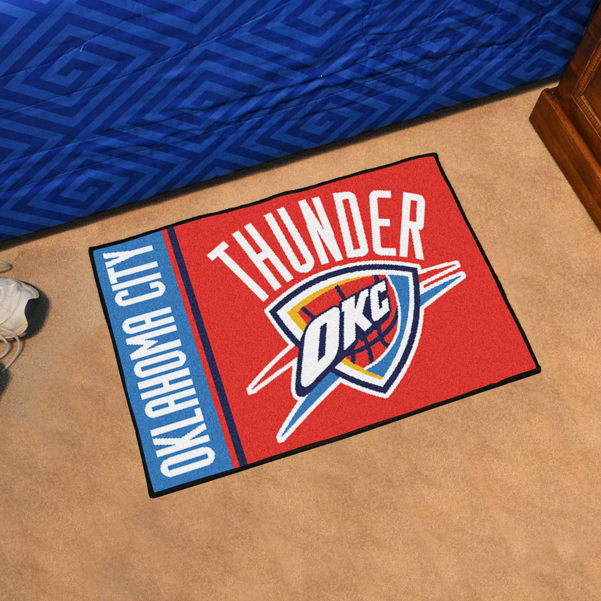 NBA - Uniform Starter Mat NBA Mats, Rectangular Mats, Uniform Starter Mat, NBA, Home Fan Mats Oklahoma City Thunder