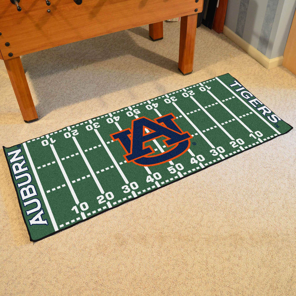 Collegiate - Football Field Runner Collegiate Mats, Rectangular Mats, Football Field Runner, Collegiate, Home Fan Mats Auburn 2