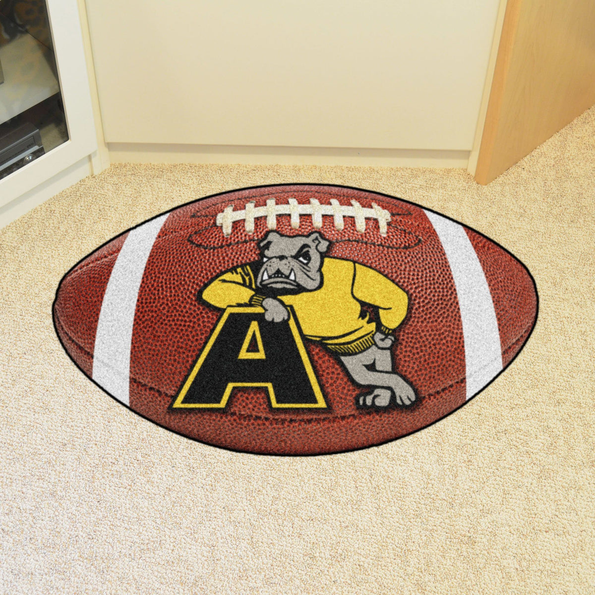 Collegiate - Football Mat: A - K Collegiate Mats, Rectangular Mats, Football Mat, Collegiate, Home Fan Mats Adrian College