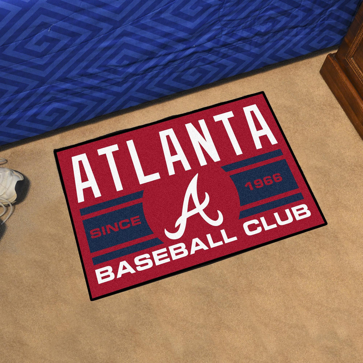 MLB - Uniform Starter Mat MLB Mats, Rectangular Mats, Uniform Starter Mat, MLB, Home Fan Mats Atlanta Braves