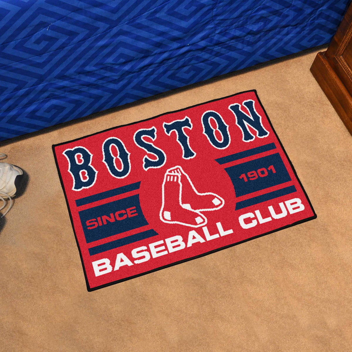 MLB - Uniform Starter Mat MLB Mats, Rectangular Mats, Uniform Starter Mat, MLB, Home Fan Mats Boston Red Sox
