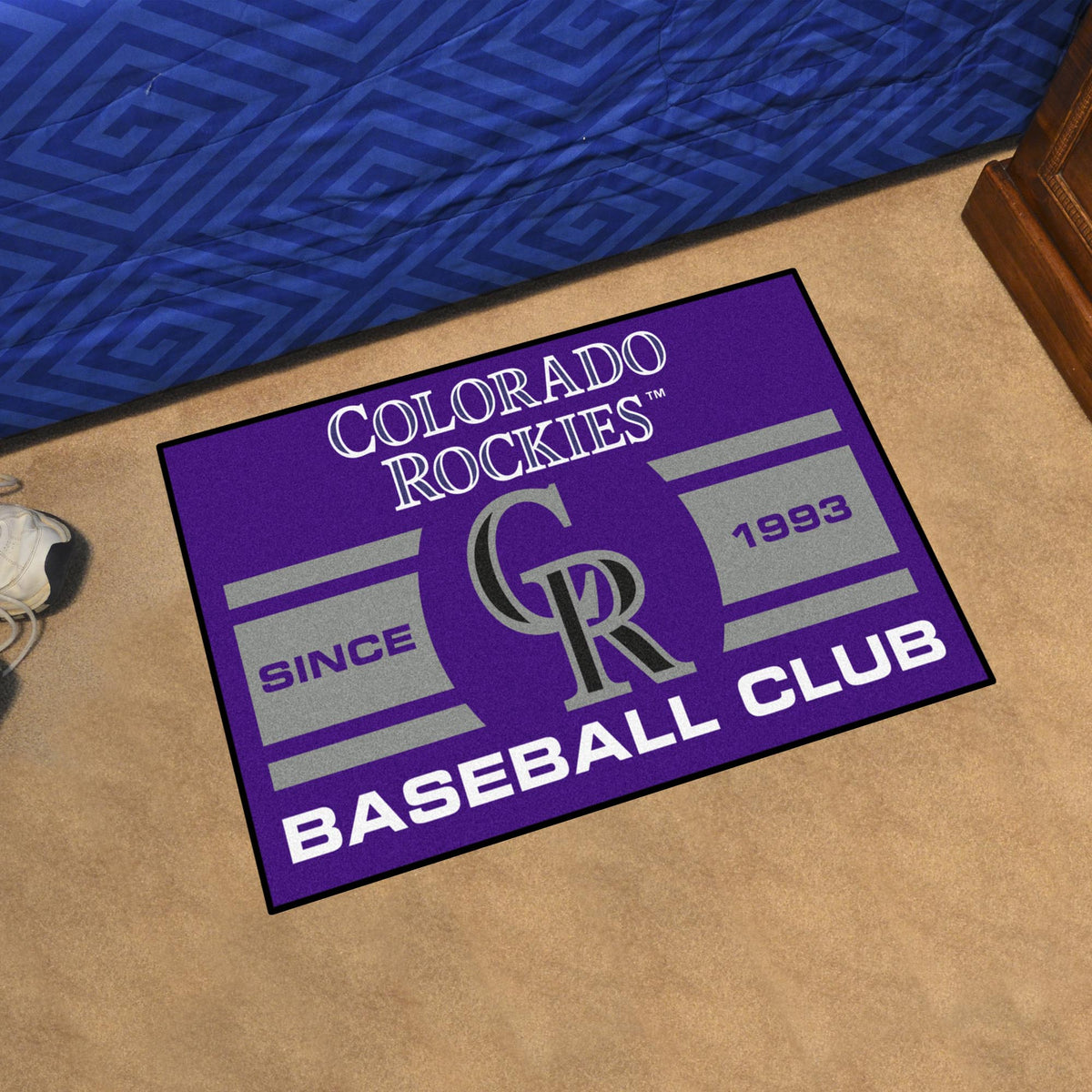 MLB - Uniform Starter Mat MLB Mats, Rectangular Mats, Uniform Starter Mat, MLB, Home Fan Mats Colorado Rockies