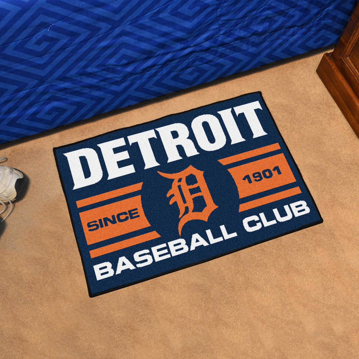 MLB - Uniform Starter Mat MLB Mats, Rectangular Mats, Uniform Starter Mat, MLB, Home Fan Mats Detroit Tigers