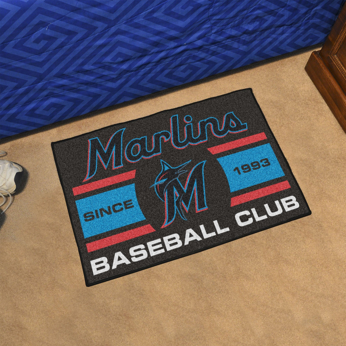 MLB - Uniform Starter Mat MLB Mats, Rectangular Mats, Uniform Starter Mat, MLB, Home Fan Mats Miami Marlins