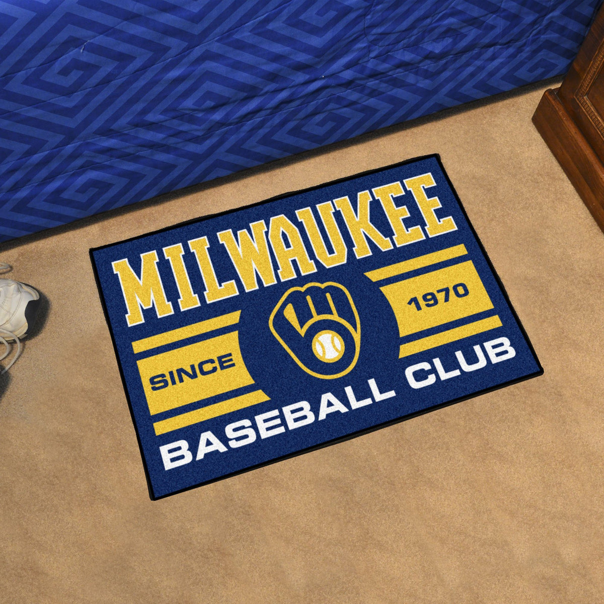 MLB - Uniform Starter Mat MLB Mats, Rectangular Mats, Uniform Starter Mat, MLB, Home Fan Mats Milwaukee Brewers
