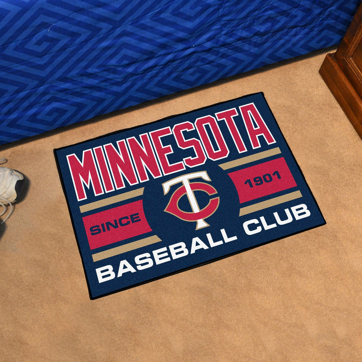 MLB - Uniform Starter Mat MLB Mats, Rectangular Mats, Uniform Starter Mat, MLB, Home Fan Mats Minnesota Twins