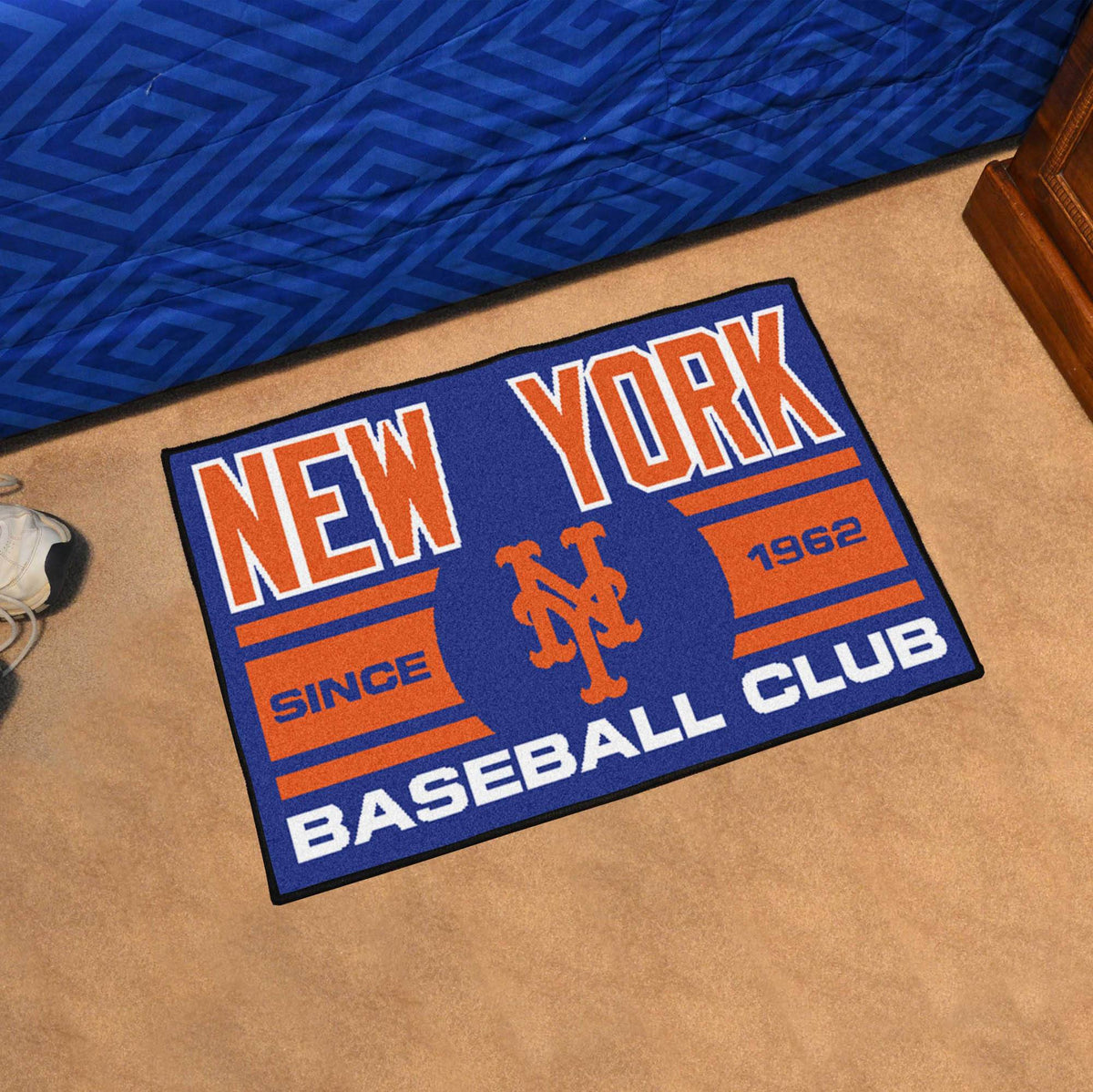 MLB - Uniform Starter Mat MLB Mats, Rectangular Mats, Uniform Starter Mat, MLB, Home Fan Mats New York Mets