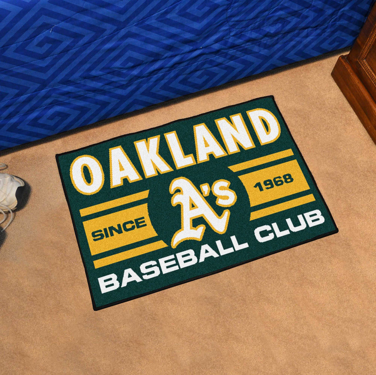 MLB - Uniform Starter Mat MLB Mats, Rectangular Mats, Uniform Starter Mat, MLB, Home Fan Mats Oakland Athletics