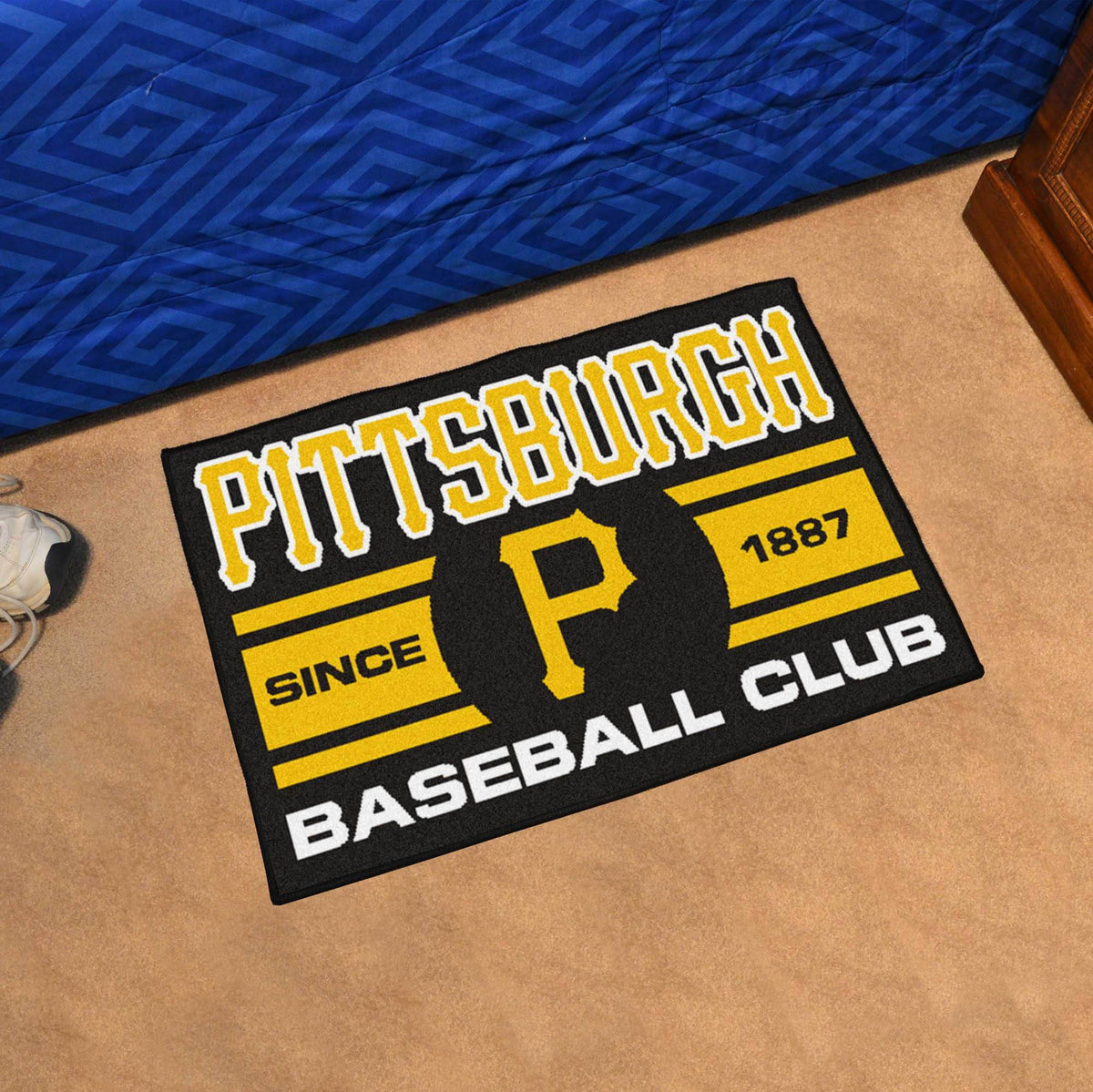 MLB - Uniform Starter Mat MLB Mats, Rectangular Mats, Uniform Starter Mat, MLB, Home Fan Mats Pittsburgh Pirates