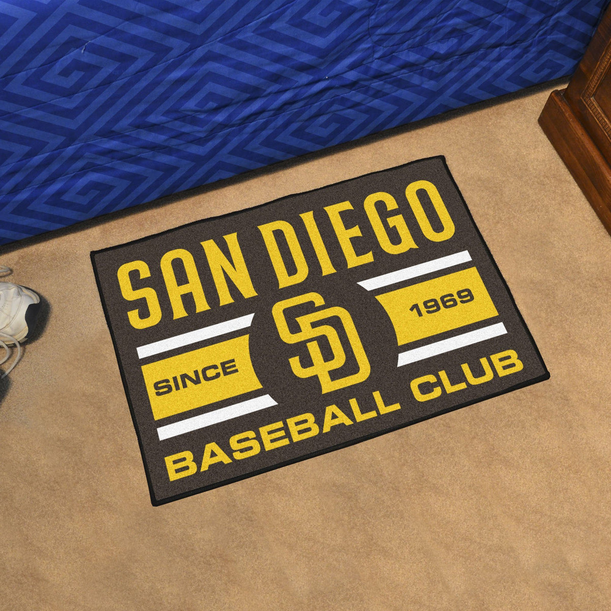 MLB - Uniform Starter Mat MLB Mats, Rectangular Mats, Uniform Starter Mat, MLB, Home Fan Mats San Diego Padres