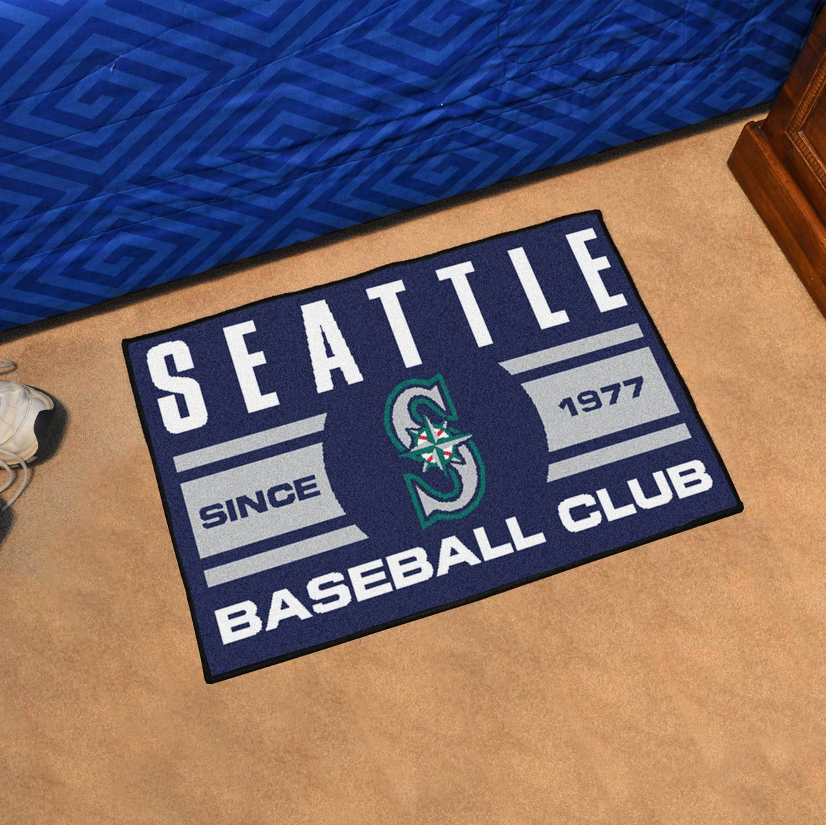 MLB - Uniform Starter Mat MLB Mats, Rectangular Mats, Uniform Starter Mat, MLB, Home Fan Mats Seattle Mariners