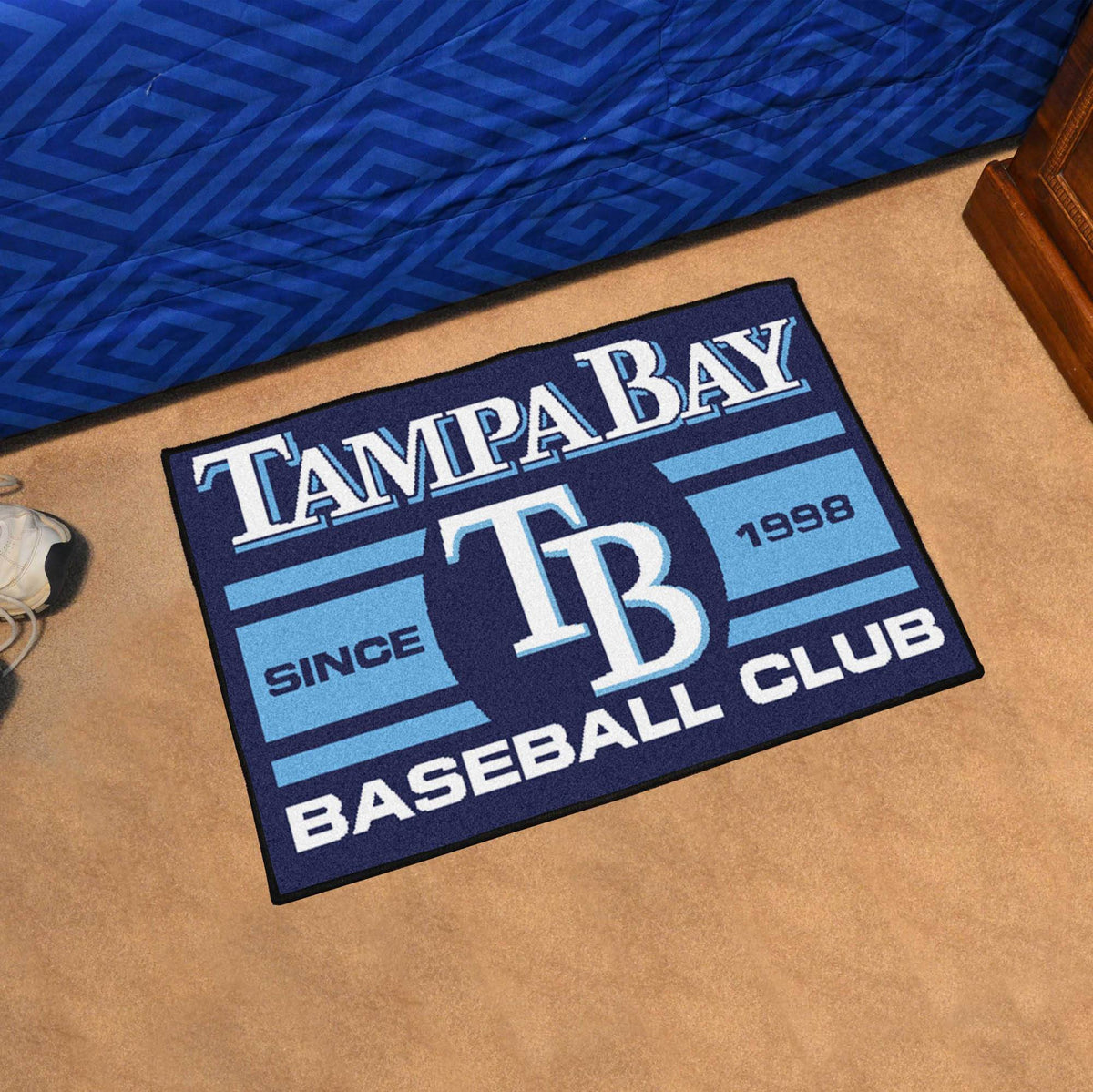 MLB - Uniform Starter Mat MLB Mats, Rectangular Mats, Uniform Starter Mat, MLB, Home Fan Mats Tampa Bay Rays