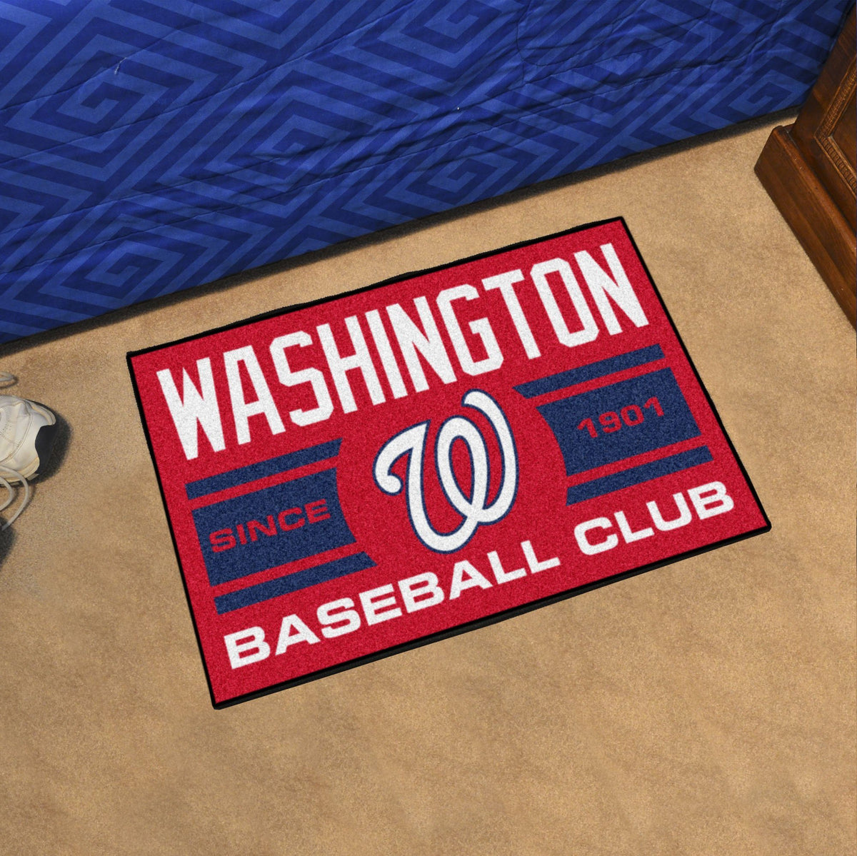 MLB - Uniform Starter Mat MLB Mats, Rectangular Mats, Uniform Starter Mat, MLB, Home Fan Mats Washington Nationals
