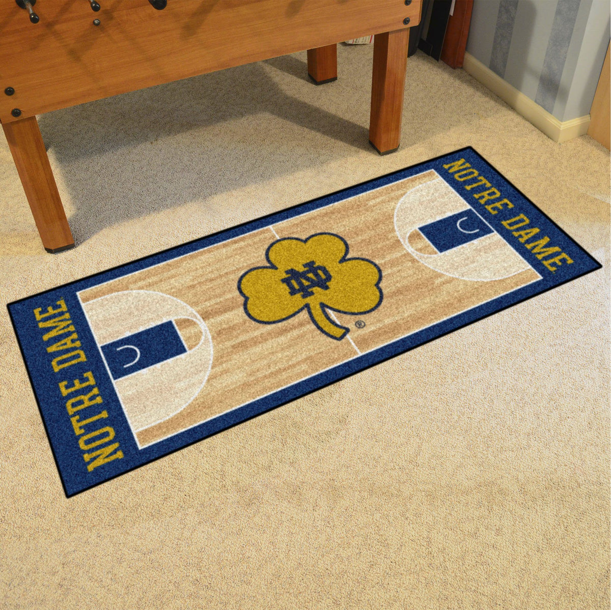 Collegiate - NCAA Basketball Runner Collegiate Mats, Rectangular Mats, NCAA Basketball Runner, Collegiate, Home Fan Mats Notre Dame
