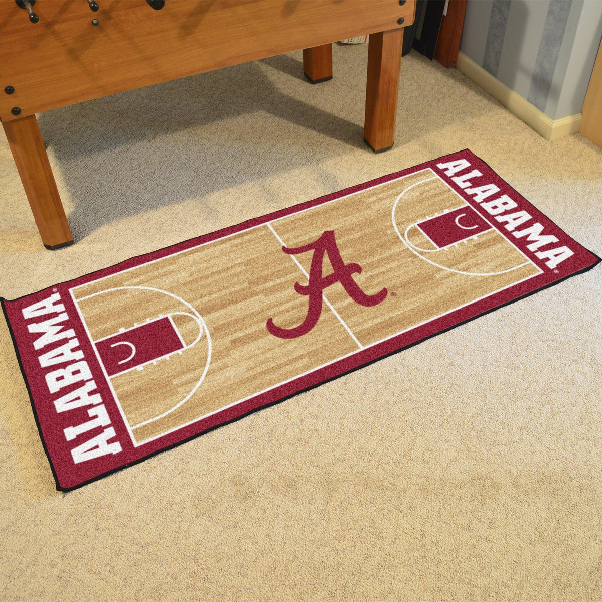 Collegiate - NCAA Basketball Runner Collegiate Mats, Rectangular Mats, NCAA Basketball Runner, Collegiate, Home Fan Mats Alabama