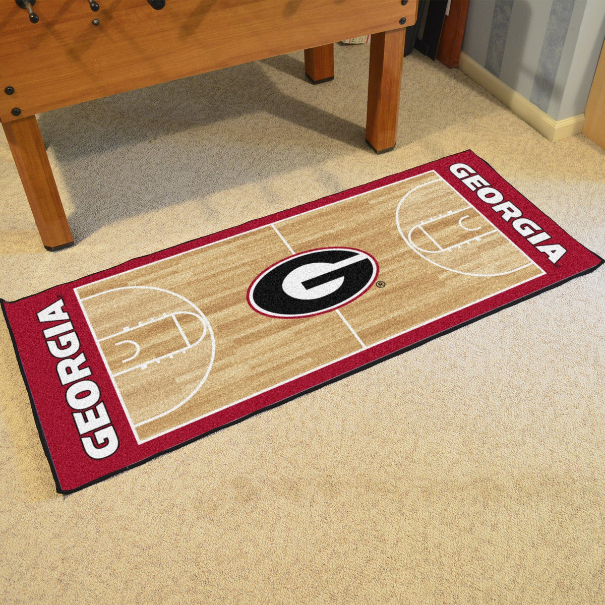 Collegiate - NCAA Basketball Runner Collegiate Mats, Rectangular Mats, NCAA Basketball Runner, Collegiate, Home Fan Mats Georgia