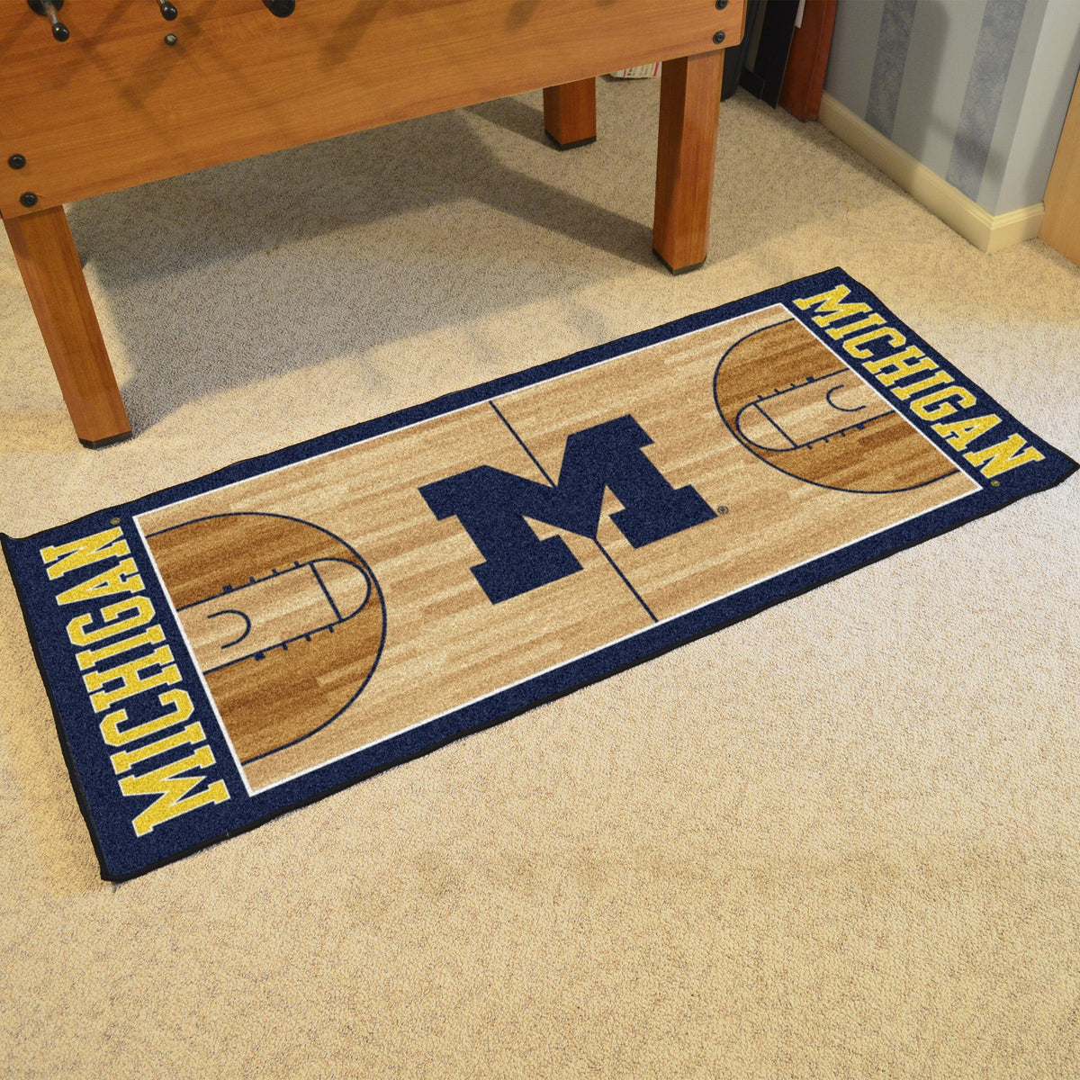 Collegiate - NCAA Basketball Runner Collegiate Mats, Rectangular Mats, NCAA Basketball Runner, Collegiate, Home Fan Mats Michigan