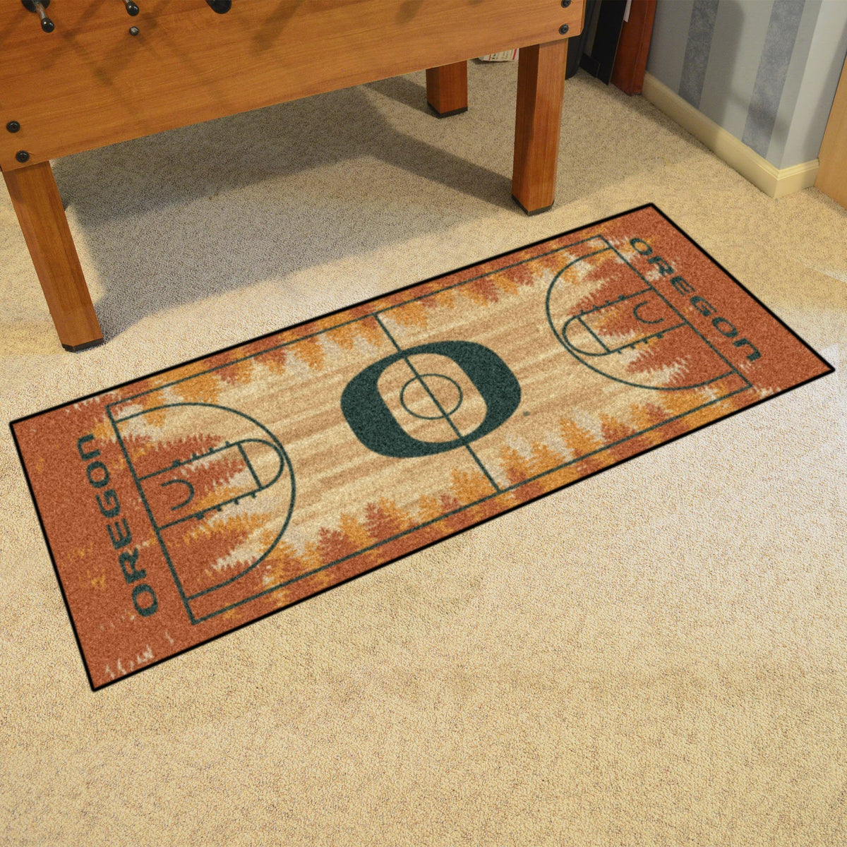 Collegiate - NCAA Basketball Runner Collegiate Mats, Rectangular Mats, NCAA Basketball Runner, Collegiate, Home Fan Mats Oregon