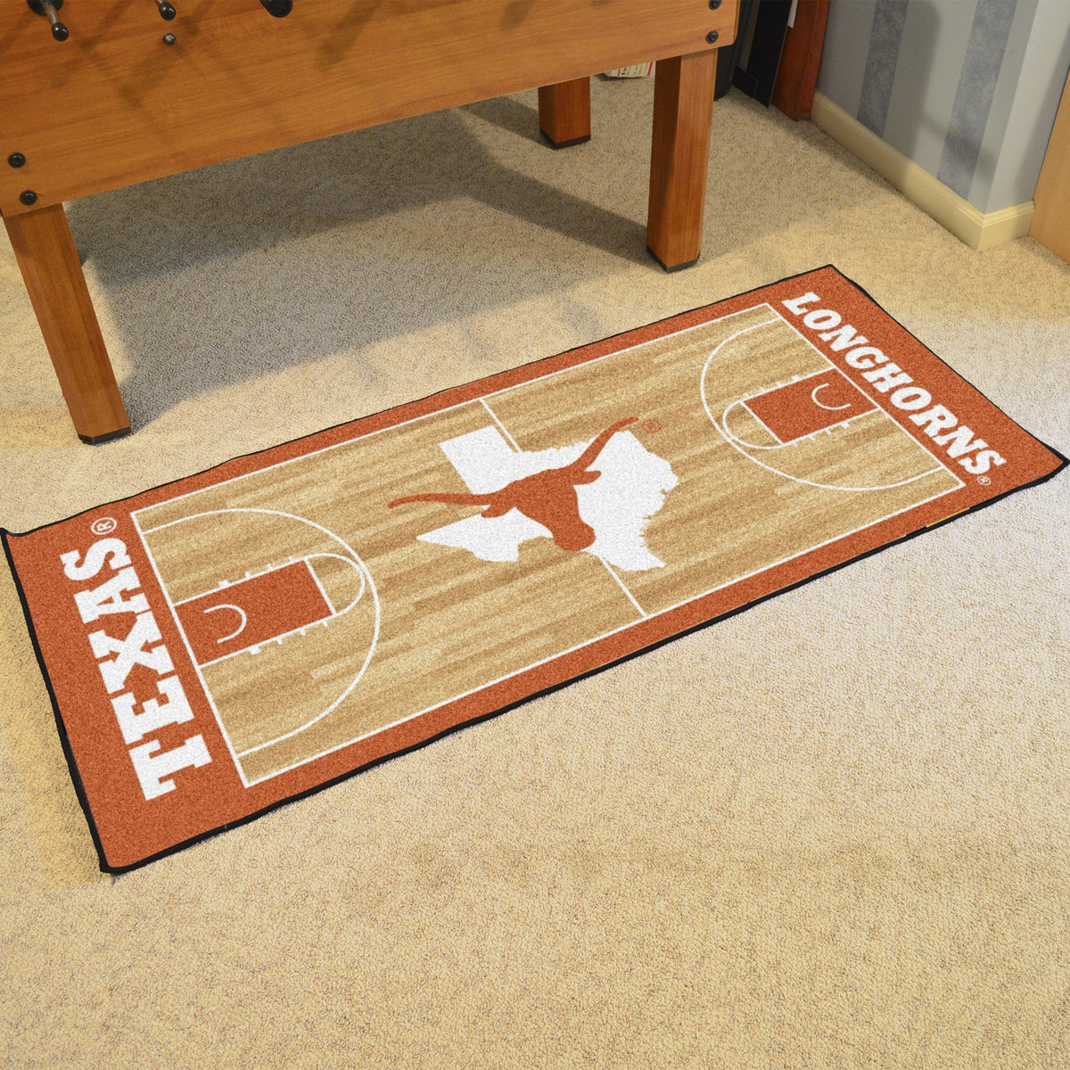 Collegiate - NCAA Basketball Runner Collegiate Mats, Rectangular Mats, NCAA Basketball Runner, Collegiate, Home Fan Mats Texas