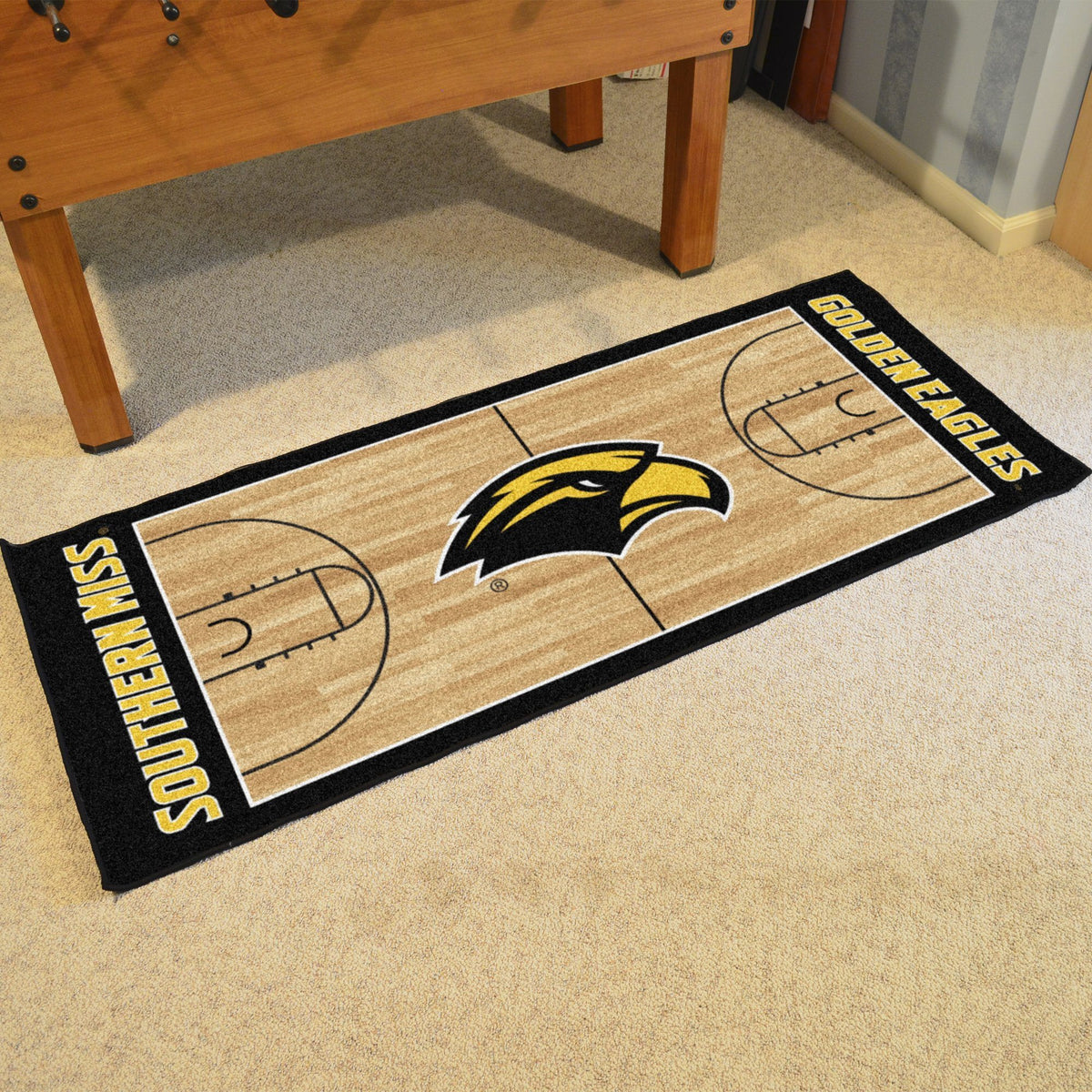 Collegiate - NCAA Basketball Runner Collegiate Mats, Rectangular Mats, NCAA Basketball Runner, Collegiate, Home Fan Mats Southern Miss