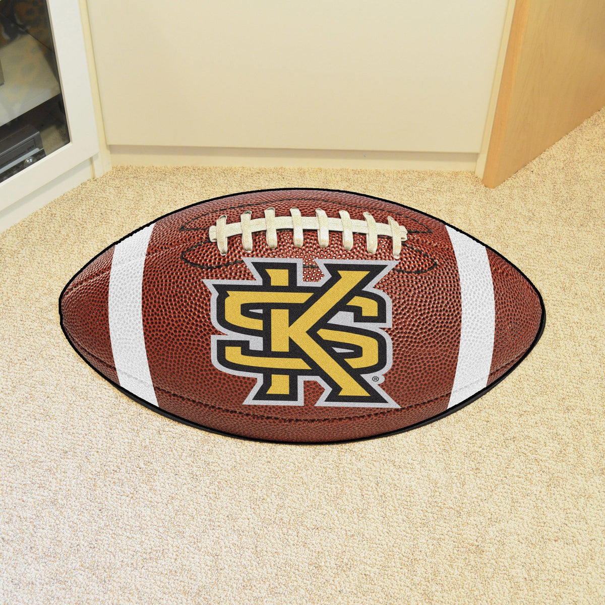 Collegiate - Football Mat: A - K Collegiate Mats, Rectangular Mats, Football Mat, Collegiate, Home Fan Mats Kennesaw State 2