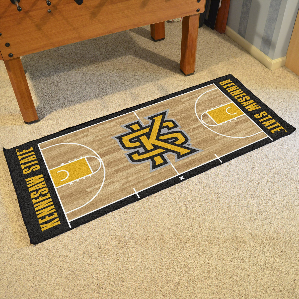 Collegiate - NCAA Basketball Runner Collegiate Mats, Rectangular Mats, NCAA Basketball Runner, Collegiate, Home Fan Mats Kennesaw State