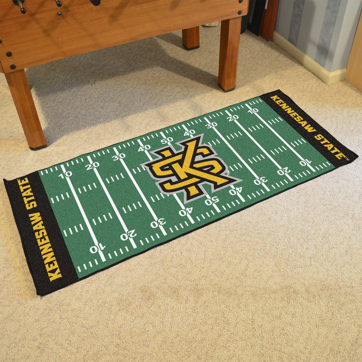 Collegiate - Football Field Runner Collegiate Mats, Rectangular Mats, Football Field Runner, Collegiate, Home Fan Mats Kennesaw State