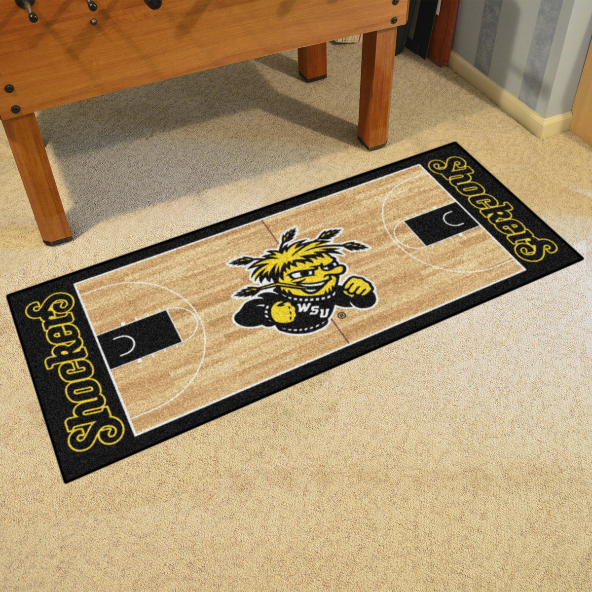 Collegiate - NCAA Basketball Runner Collegiate Mats, Rectangular Mats, NCAA Basketball Runner, Collegiate, Home Fan Mats Wichita State