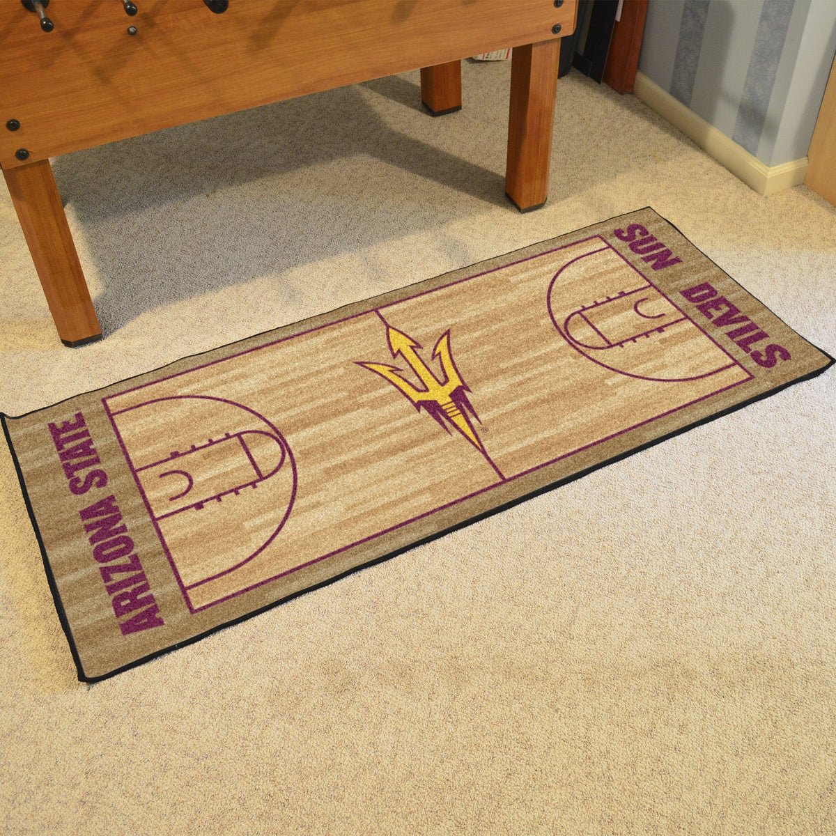 Collegiate - NCAA Basketball Runner Collegiate Mats, Rectangular Mats, NCAA Basketball Runner, Collegiate, Home Fan Mats Arizona State