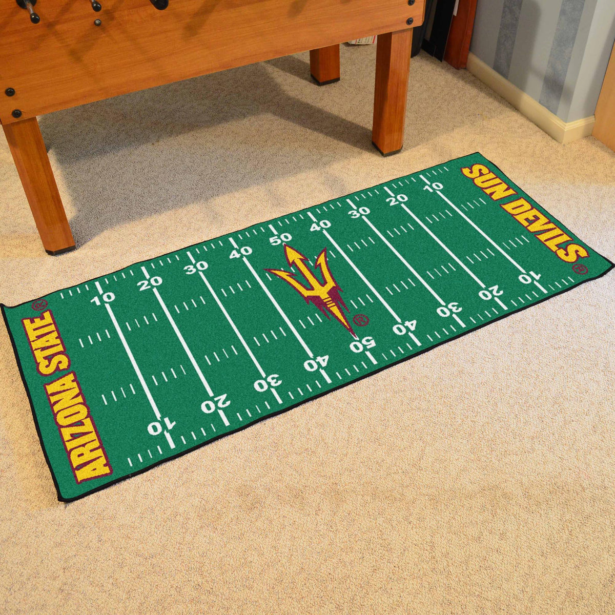 Collegiate - Football Field Runner Collegiate Mats, Rectangular Mats, Football Field Runner, Collegiate, Home Fan Mats Arizona State