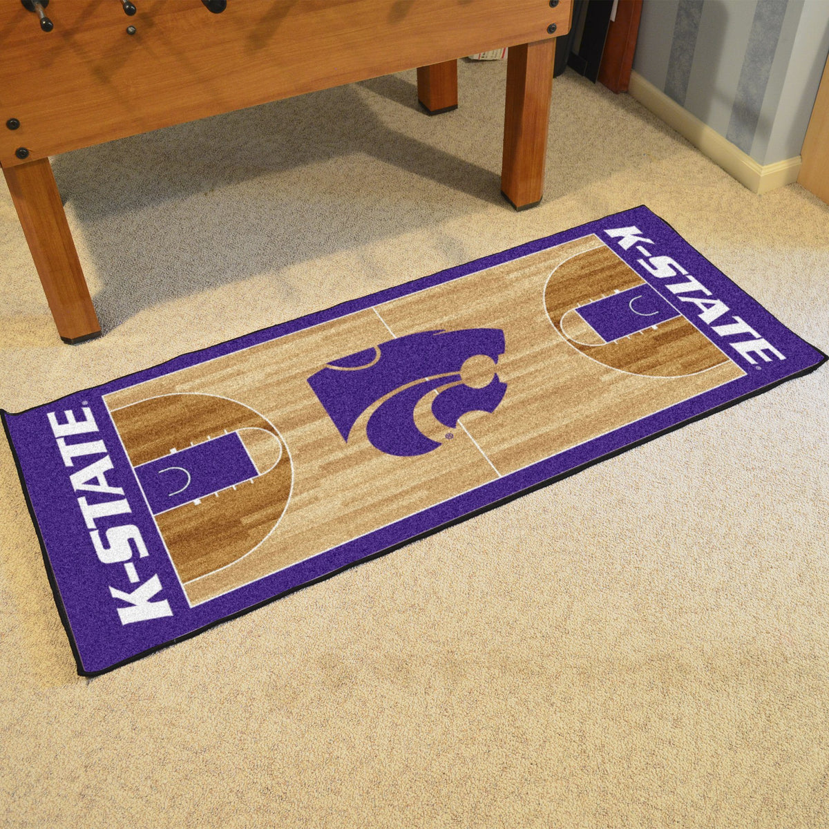 Collegiate - NCAA Basketball Runner Collegiate Mats, Rectangular Mats, NCAA Basketball Runner, Collegiate, Home Fan Mats Kansas State