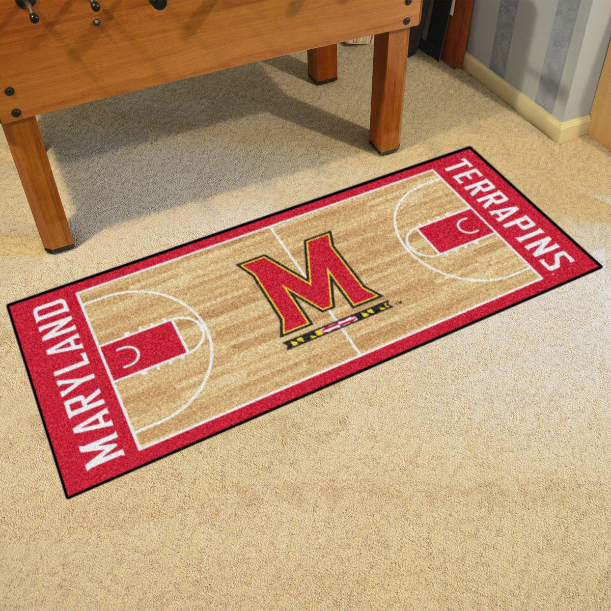 Collegiate - NCAA Basketball Runner Collegiate Mats, Rectangular Mats, NCAA Basketball Runner, Collegiate, Home Fan Mats Maryland