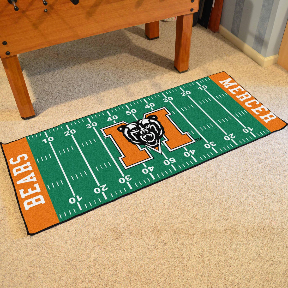 Collegiate - Football Field Runner Collegiate Mats, Rectangular Mats, Football Field Runner, Collegiate, Home Fan Mats Mercer