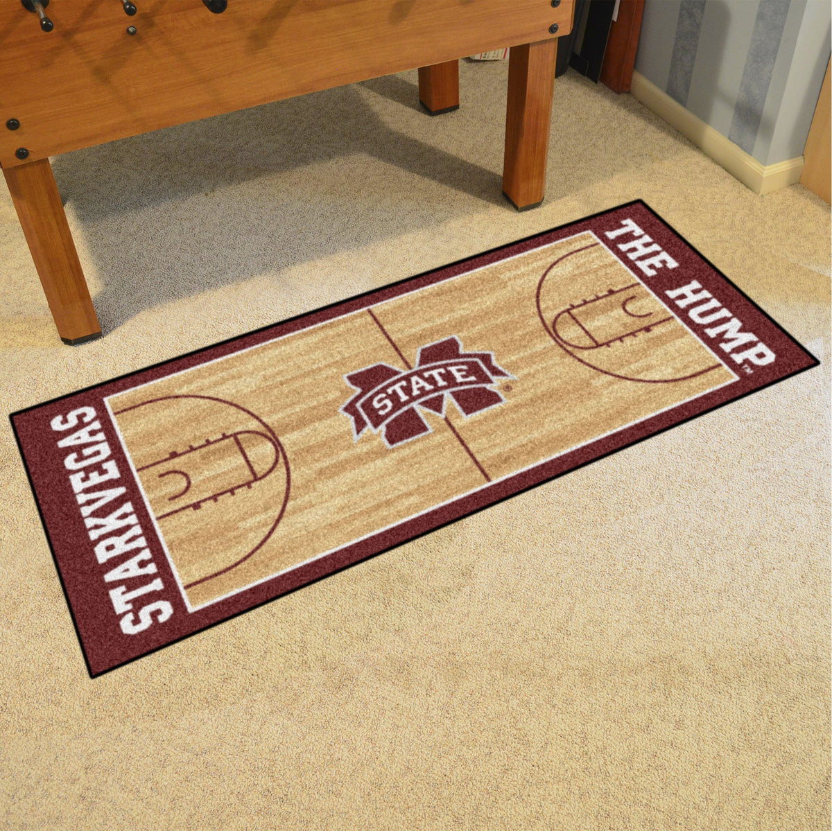 Collegiate - NCAA Basketball Runner Collegiate Mats, Rectangular Mats, NCAA Basketball Runner, Collegiate, Home Fan Mats Mississippi State