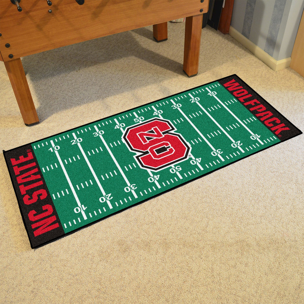 Collegiate - Football Field Runner Collegiate Mats, Rectangular Mats, Football Field Runner, Collegiate, Home Fan Mats NC State