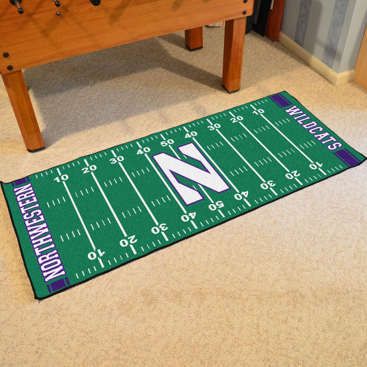 Collegiate - Football Field Runner Collegiate Mats, Rectangular Mats, Football Field Runner, Collegiate, Home Fan Mats Northwestern