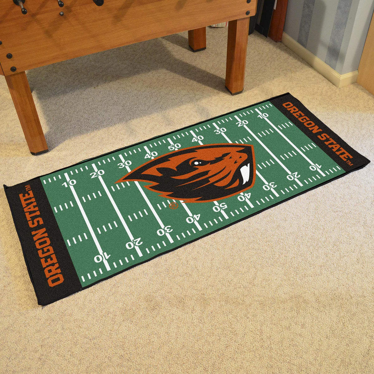Collegiate - Football Field Runner Collegiate Mats, Rectangular Mats, Football Field Runner, Collegiate, Home Fan Mats Oregon State