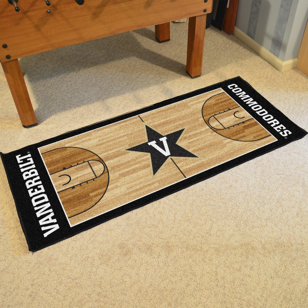 Collegiate - NCAA Basketball Runner Collegiate Mats, Rectangular Mats, NCAA Basketball Runner, Collegiate, Home Fan Mats Vanderbilt