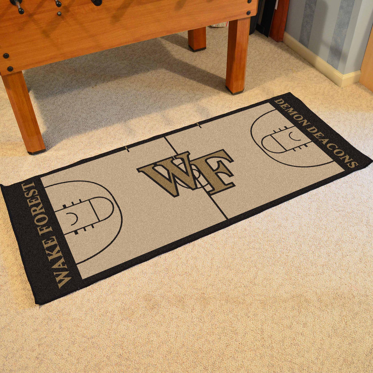 Collegiate - NCAA Basketball Runner Collegiate Mats, Rectangular Mats, NCAA Basketball Runner, Collegiate, Home Fan Mats Wake Forest